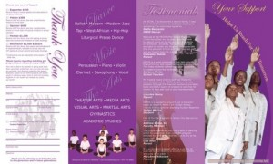 Hudson Repertory Dance School's fundraising brochure