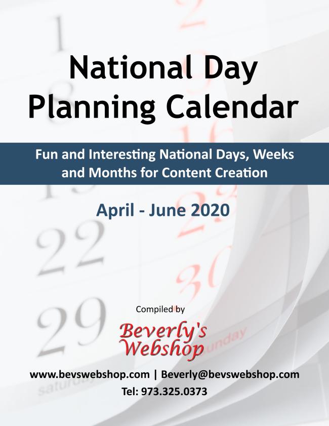 Content Ideas Special Holiday Calendar