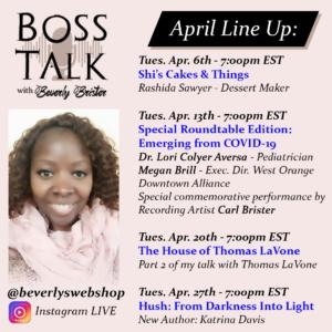 Boss Talk April 2021 Line Up