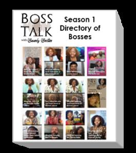 Boss Talk Season 1 Directory of Bosses